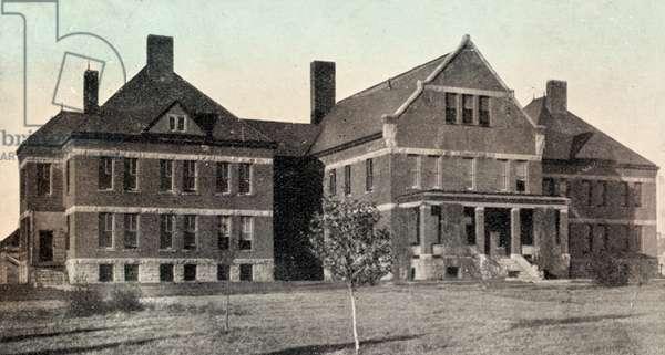 Indian Asylum, Canton, South Dakota, USA, 1914 (postcard)