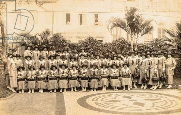 Brazilian Public Health Nurses at the School of Nursing - Anna Nery, Rio de Janiero, Brazil, c.1920s (silver gelatin print)