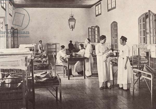 Maternity Hospital in Hue, Hue, Vietnam, c.1910 (heliotype)