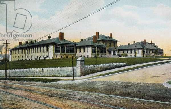 City Hospital, Youngstown, Ohio, USA, 1909 (postcard)