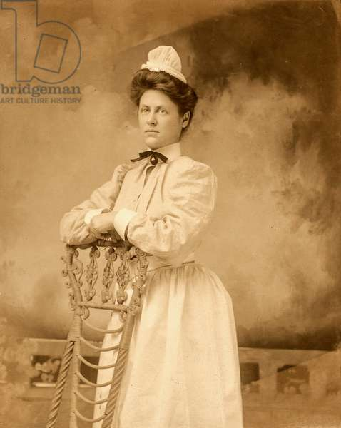Portrait of Nurse with Chair, c.1885 (cabinet card)