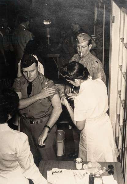 Soldier Receiving a Vaccination, West Palm Beach, FL, USA, 1942 (silver gelatin print)