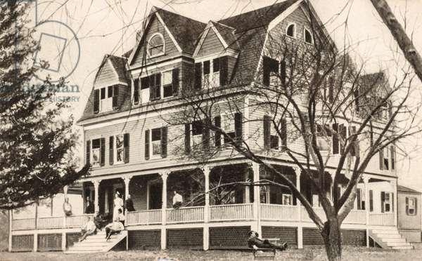 Dr. Brook's Sanatorium, New Canaan, New York, USA (postcard)