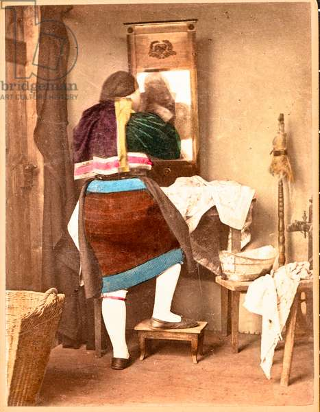 Brushing Teeth, Germany, c.1875 (cdv)