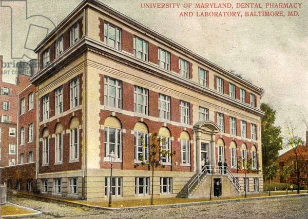 University of Maryland Dental Pharmacy and Laboratory, Baltimore, Maryland, USA, 1908 (postcard)