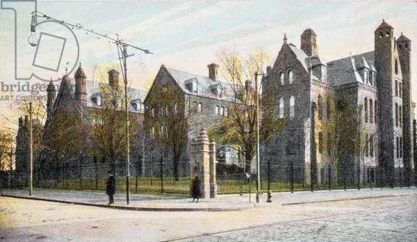Episcopal Hospital, Philadelphia, Pennsylvania, USA, 1907 (postcard)