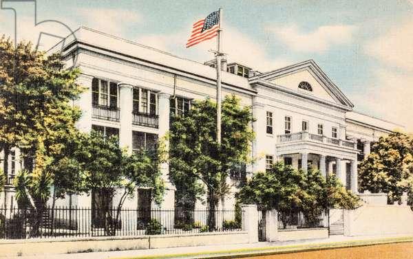 The U.S. Marine Hospital Mobile, Alabama, USA, 1947 (postcard)