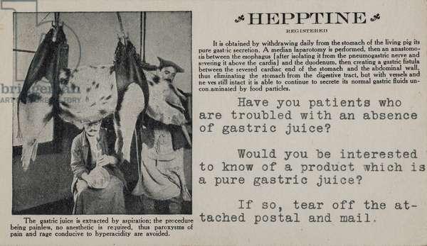 Hepptine Advertisement, New Orleans, LA, 1912 (postcard)