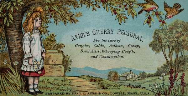 Ayer's Cherry Pectoral Advertisement, Lowell, MA, USA, c.1890 (illustration)