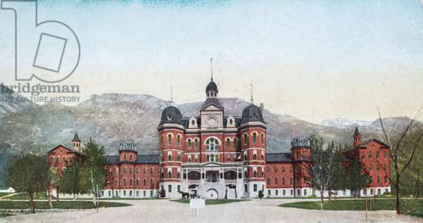State Insane Asylum, Provo, Utah, USA, 1907 (postcard)