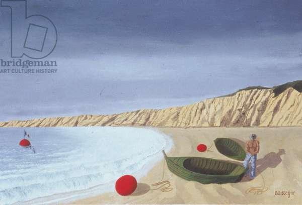 The Beach (oil on canvas)