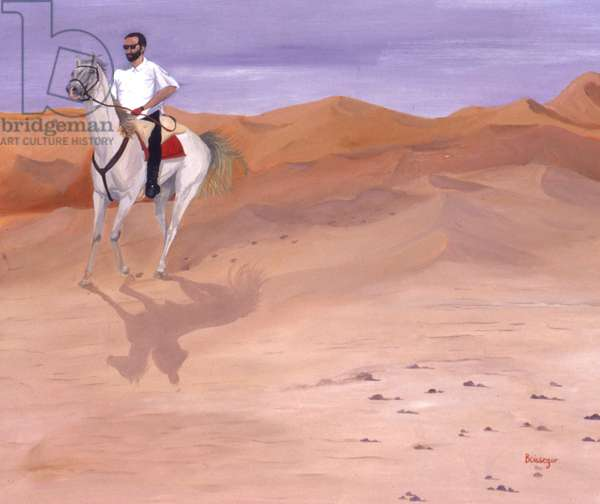 Rider in the Desert (oil on canvas)