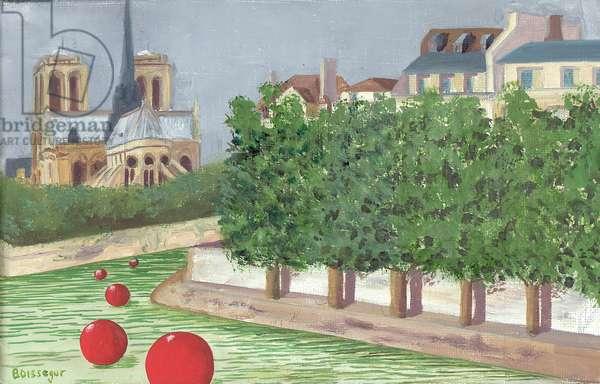 Il de la Cite, Paris (oil on canvas)
