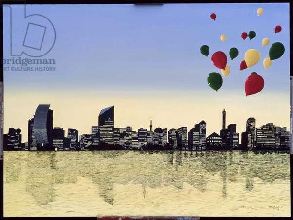 Metropolis (oil on canvas)