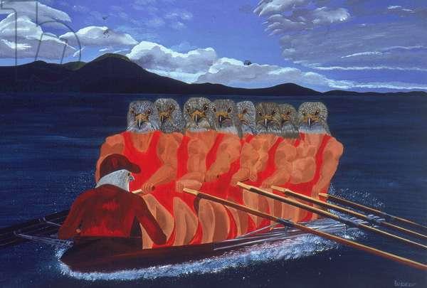 Homo Ramens (oil on canvas)