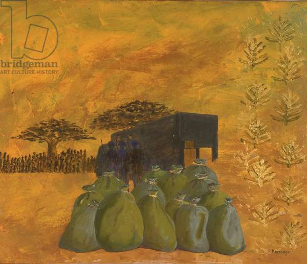 Land Aid (oil on canvas)