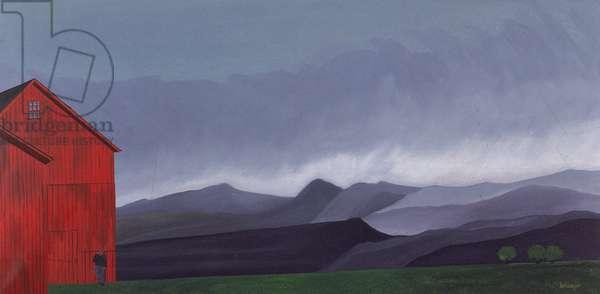 Rain (oil on canvas)