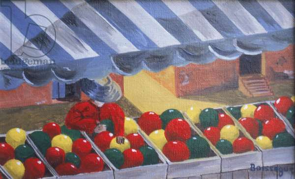 George at the Market (oil on canvas)