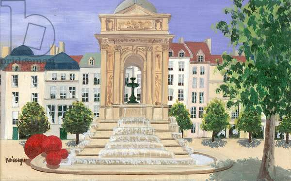 Fontaine des Innocents (oil on canvas)