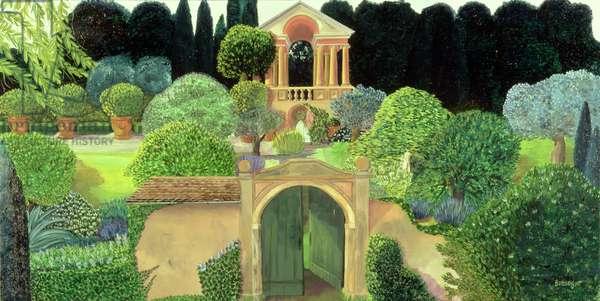Italian Gardens (oil on canvas)