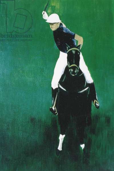 Polo Player (oil on canvas)