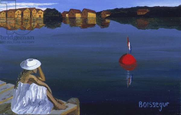 Clara at the Port (oil on canvas)
