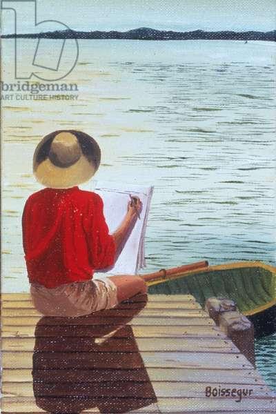 George Paints (oil on canvas)