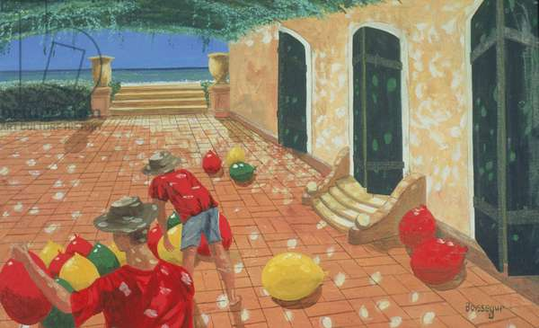 La Cour des Miracles (oil on canvas)