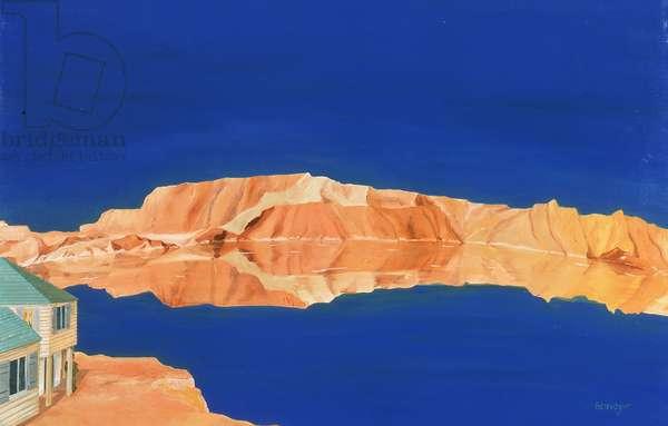 Blue Lake (oil on canvas)