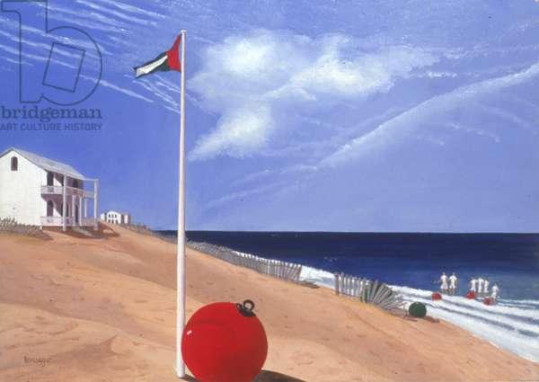 Beach Games, 1998 (oil on canvas)