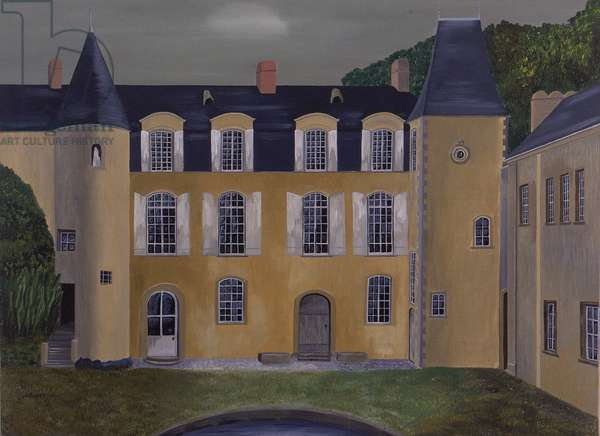 French Castle of Carcouet (oil on canvas)