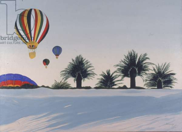 Hot Air Balloons (oil on canvas)