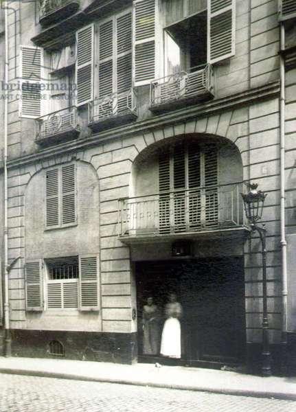 A brothel in Paris, 6 rue des Moulins (b/w photo)