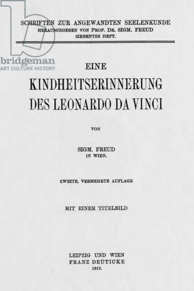 Cover of German edition of book by Sigmund Freud