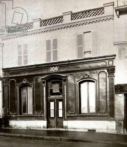 A brothel in Paris, 106, boulevard de la Chapelle (b/w photo)