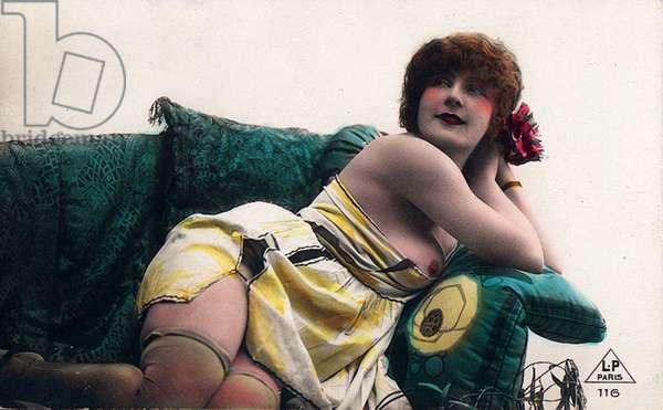 Prostitute, c.1930 (hand-coloured b/w photo)