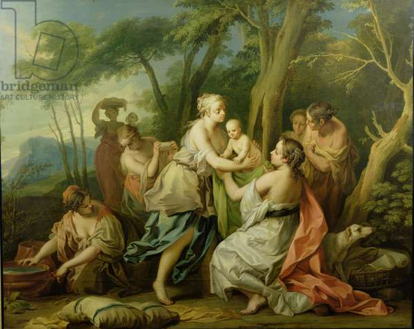 The Finding of Oedipus (oil on canvas)