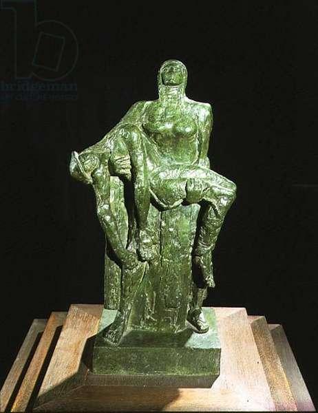 T.U.C. War Memorial Maquette, 1955 (bronze)