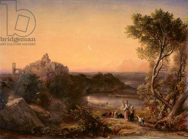 Papigno on the Nar below the Falls of the Terni, 1839 (w/c on paper)