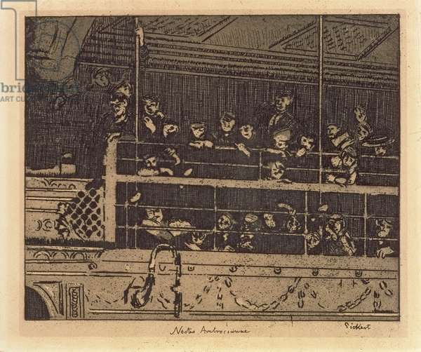 Noctes Ambrosianae (Ambrosian Nights) 1906 (etching & aquatint)