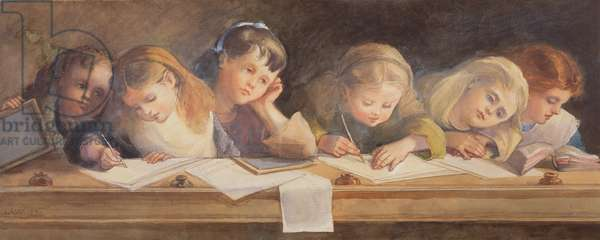 The Writing Lesson, 1880 (w/c on paper)