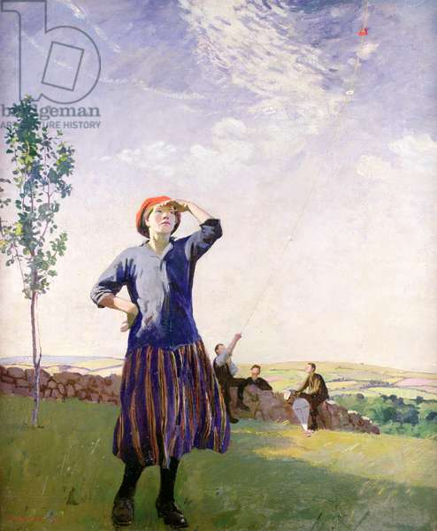 The Kite Flyer, 1916 (oil on canvas)