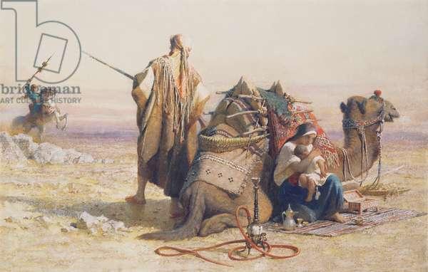 Danger in the Desert, 1867 (w/c)