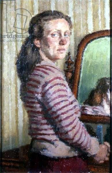 Woman in a striped jumper (board)