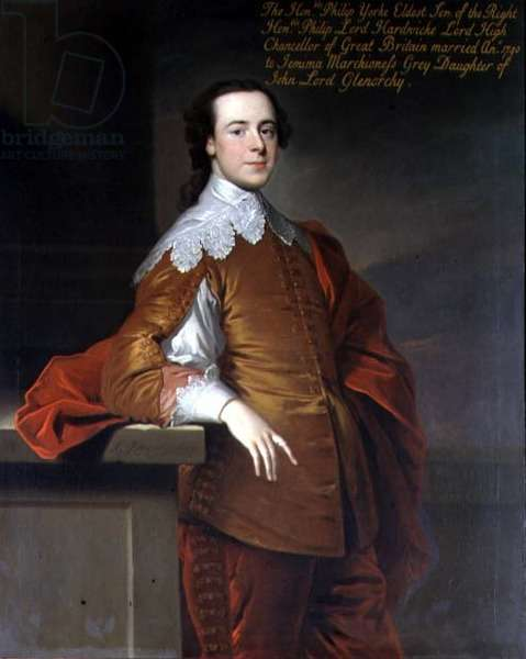 Portrait of the Honourable Philip Yorke, 1741 (oil on canvas)