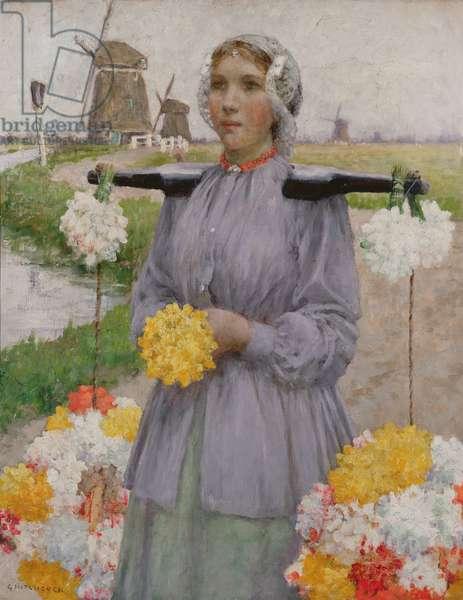 A Dutch Flower Girl