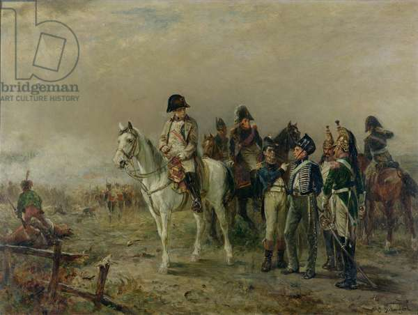 The Turning Point at Waterloo (oil on canvas)