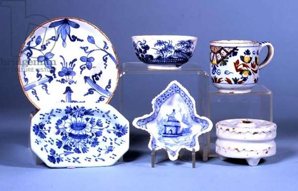 Selection of English Delftware (ceramic)