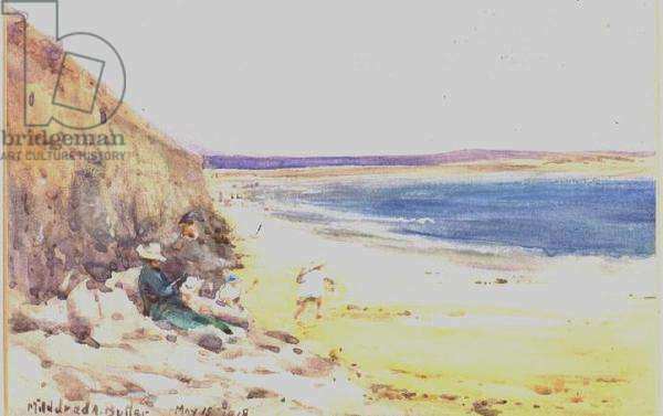 On the Beach, 1918 (w/c on paper)