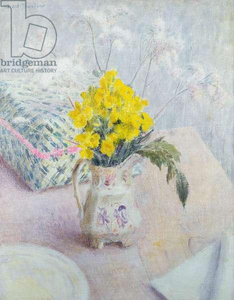 Wallflowers and Spirea